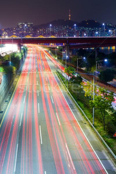 Traffic in Seoul Stock photo © leungchopan