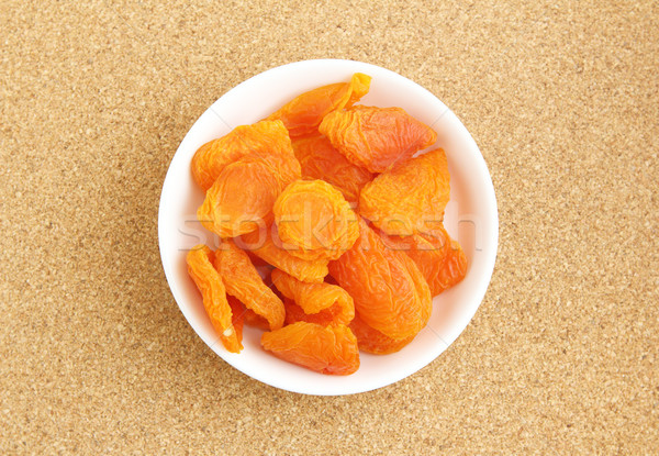 Dried apricots with toothpick Stock photo © leungchopan