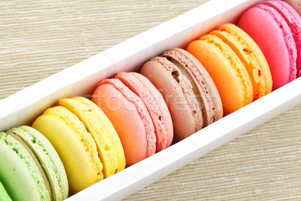 macaron in paper box Stock photo © leungchopan