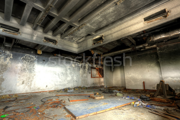 discarded building, indoor Stock photo © leungchopan