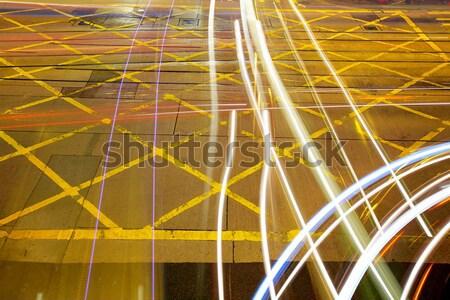 светофор небе служба здании свет синий Сток-фото © leungchopan