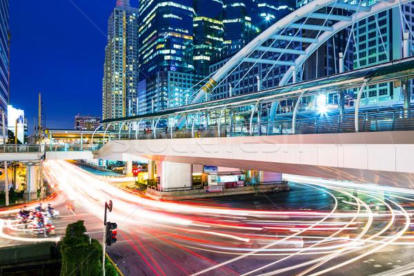 Stok fotoğraf: Bangkok · şehir · gece · iş · yol · Bina · gece