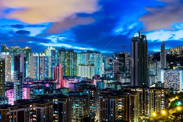 Urban city in Hong Kong Stock photo © leungchopan