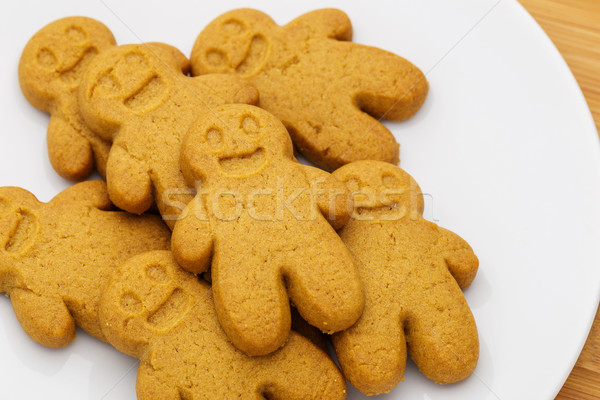 Stock photo: Gingerbread cookies on plate