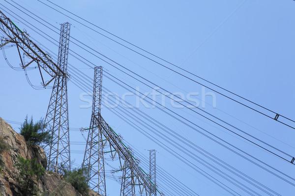 власти распределение башни металл сеть стали Сток-фото © leungchopan