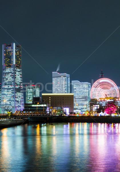 Yokohama città Giappone business costruzione mare Foto d'archivio © leungchopan