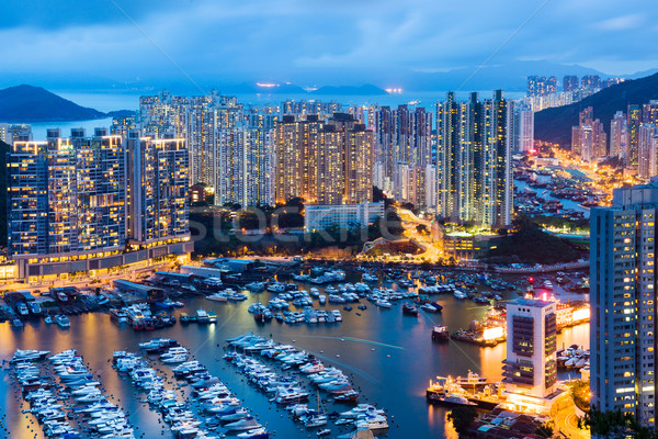Aberdeen typhoon shelter Stock photo © leungchopan