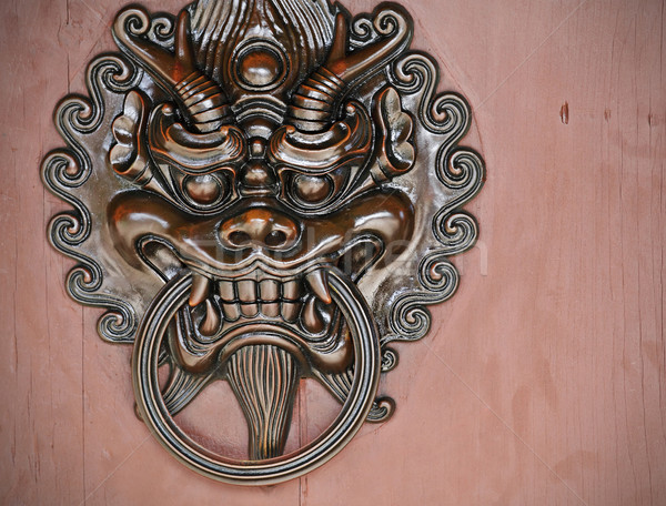oriental door knocker Stock photo © leungchopan