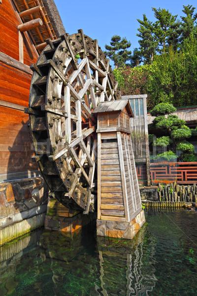 wooden waterwheel Stock photo © leungchopan