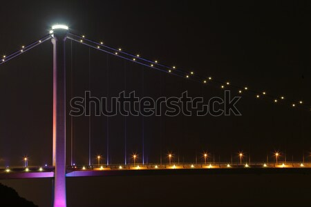 Tsing ma bridge at night, Hong Kong Stock photo © leungchopan