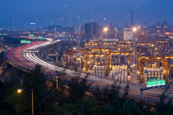 Highway and Container Terminals Stock photo © leungchopan