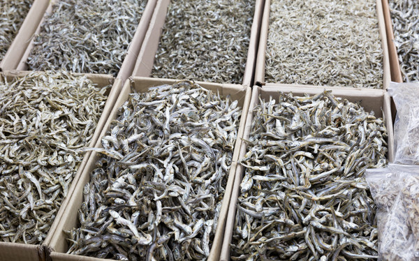 Dried assorted anchovy fish Stock photo © leungchopan