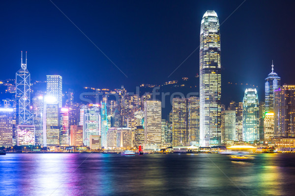 Stok fotoğraf: Hong · Kong · ufuk · çizgisi · Bina · şehir · manzara · deniz