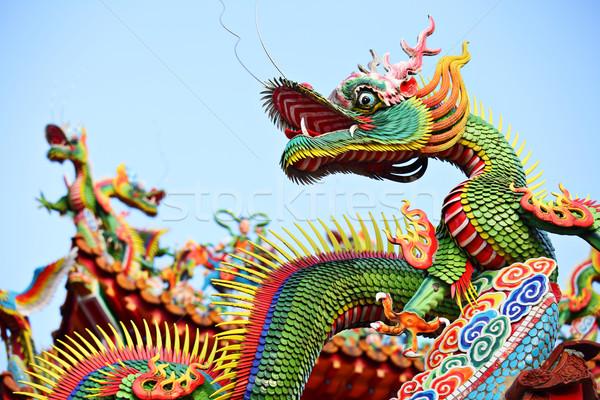 Asian temple dragon Stock photo © leungchopan