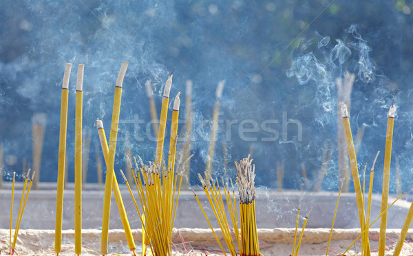 Incense sticks in chinese temple Stock photo © leungchopan