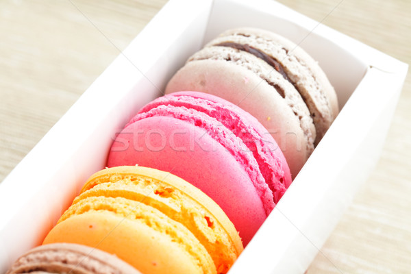 macaroon in box Stock photo © leungchopan