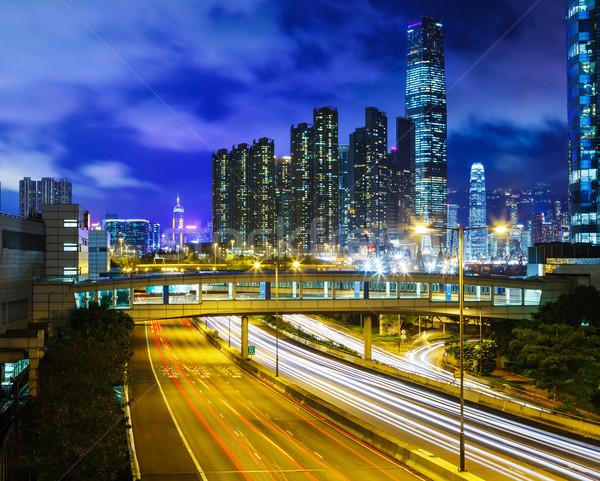 Stok fotoğraf: Trafik · iz · kentsel · şehir · gökyüzü · ışık