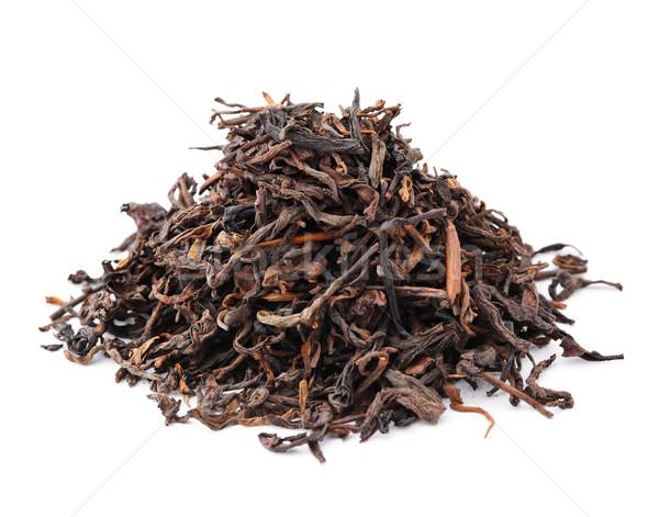 китайский черный чай изолированный белый текстуры Сток-фото © leungchopan