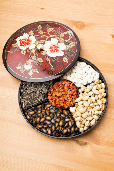 Chinese snack tray for lunar new year Stock photo © leungchopan