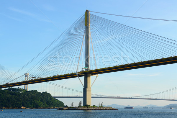 Ting Kau Bridge in Hong Kong Stock photo © leungchopan