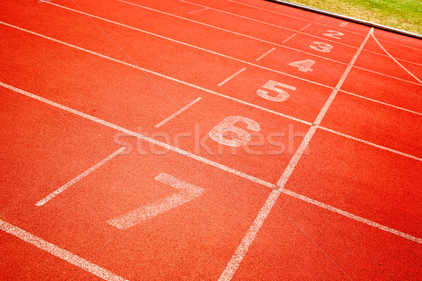 finish line of running track Stock photo © leungchopan