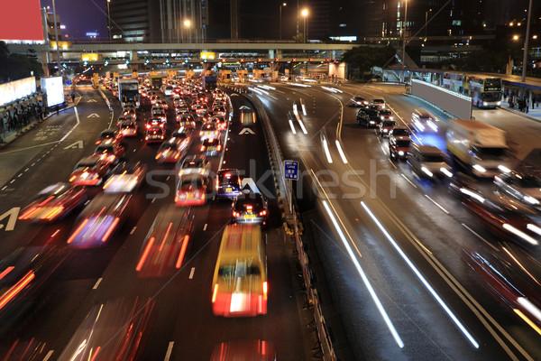 渋滞 香港 1泊 抽象的な 旅行 道路 ストックフォト © leungchopan