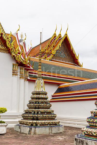 Hagyományos templom Thaiföld épület istentisztelet ázsiai Stock fotó © leungchopan