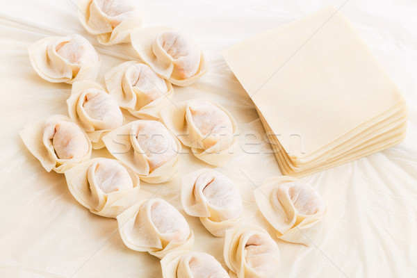 Caseiro matéria-prima carne chinês vegetal Foto stock © leungchopan