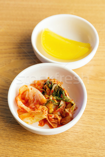 Korean food, kim chi Stock photo © leungchopan