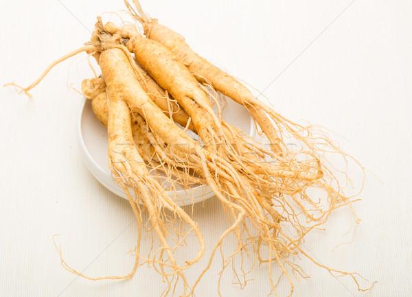 женьшень Stick белый рынке здоровья Азии Сток-фото © leungchopan