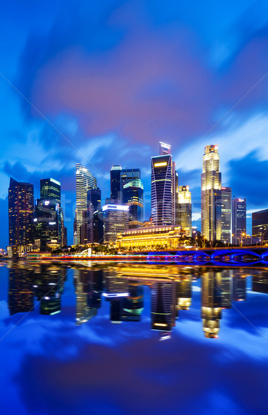 Singapore at night Stock photo © leungchopan