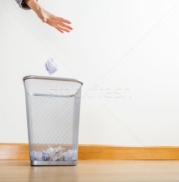 Throwing of paper ball Stock photo © leungchopan