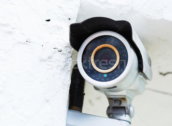 Wall mounted Surveillance camera Stock photo © leungchopan