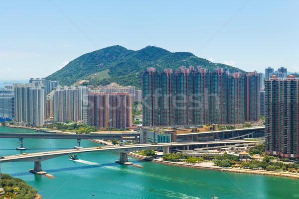 Yerleşim bölge Hong Kong Bina deniz ufuk çizgisi Stok fotoğraf © leungchopan