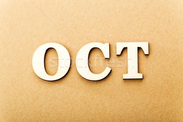 Wooden text for October Stock photo © leungchopan