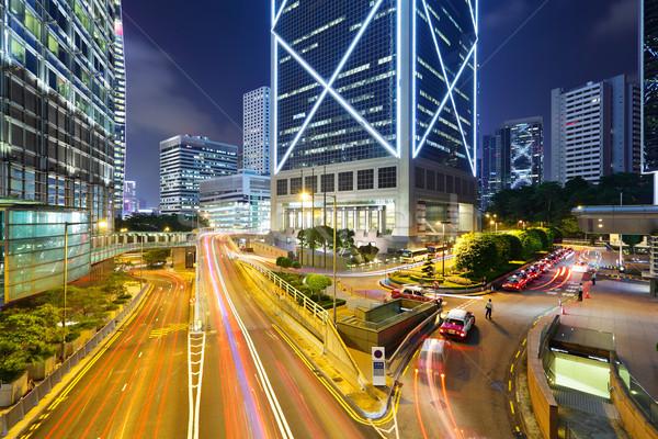 night traffic in the city Stock photo © leungchopan