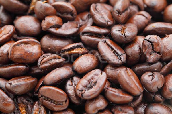 Grain de café boire café noir liquide fraîches Photo stock © leungchopan
