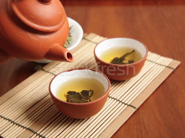chinese tea time Stock photo © leungchopan