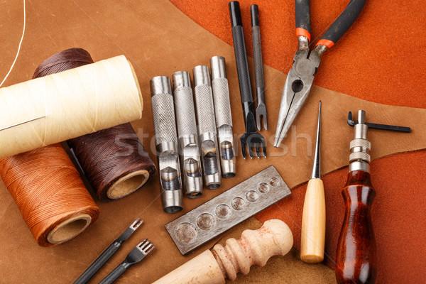 DIY leather craft tool Stock photo © leungchopan