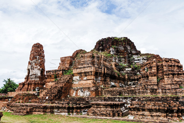 Old siam temple of Ayutthaya Stock photo © leungchopan