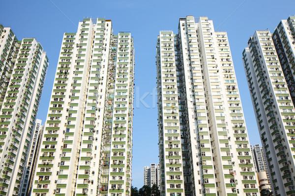 アパート 市 スカイライン 景観 アパート 公共 ストックフォト © leungchopan