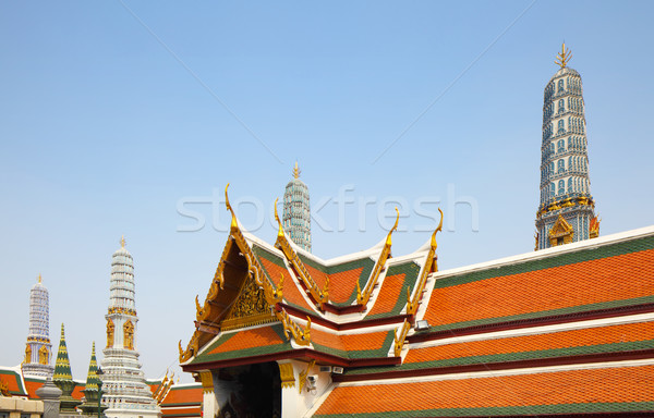 Grand palace in Bangkok Stock photo © leungchopan