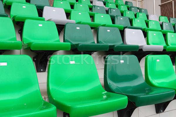 Izleyici koltuk stadyum spor yeşil sahne Stok fotoğraf © leungchopan