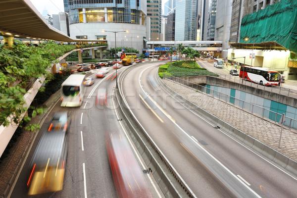 speed evening traffic motion blur Stock photo © leungchopan