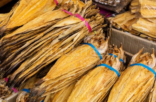 Geleneksel tuzlu balık pazar kral somon Stok fotoğraf © leungchopan