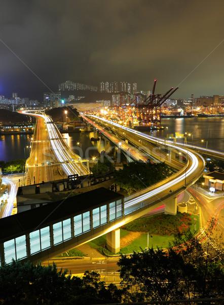 груза шоссе деньги здании свет моста Сток-фото © leungchopan