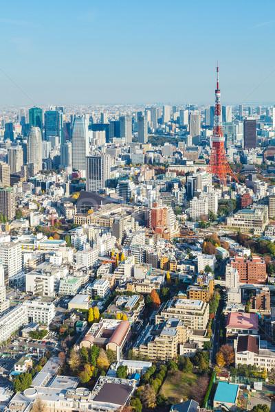 Tokio ciudad cielo paisaje azul urbanas Foto stock © leungchopan