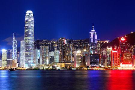 Hong Kong dakraam business kantoor gebouw stad Stockfoto © leungchopan
