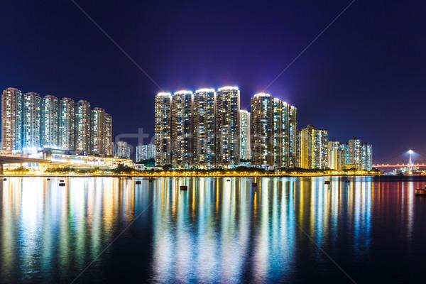 アパート 香港 1泊 ホーム スカイライン 川 ストックフォト © leungchopan