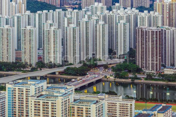 Hongkong publicznych obudowa miasta domu panoramę Zdjęcia stock © leungchopan
